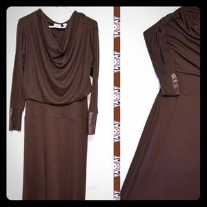 Cato size large brown long dress